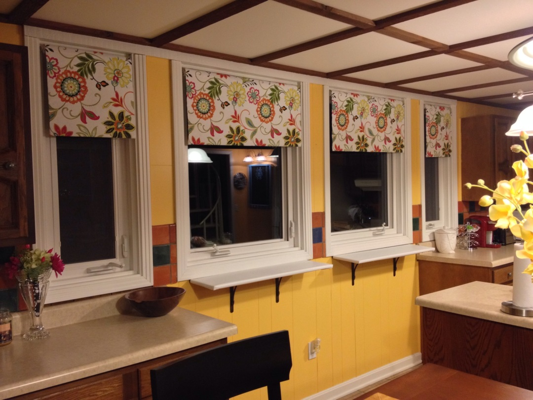Diy Roller Shades Let The Sun In Close The Night Out