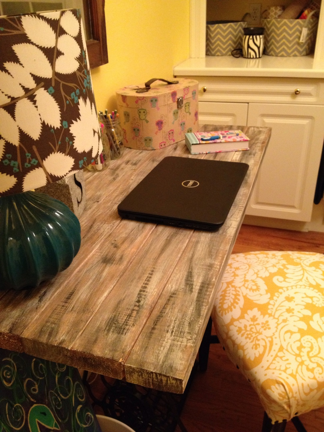 Trash Turned Treasure--DIY Singer Sewing Machine Base Desk