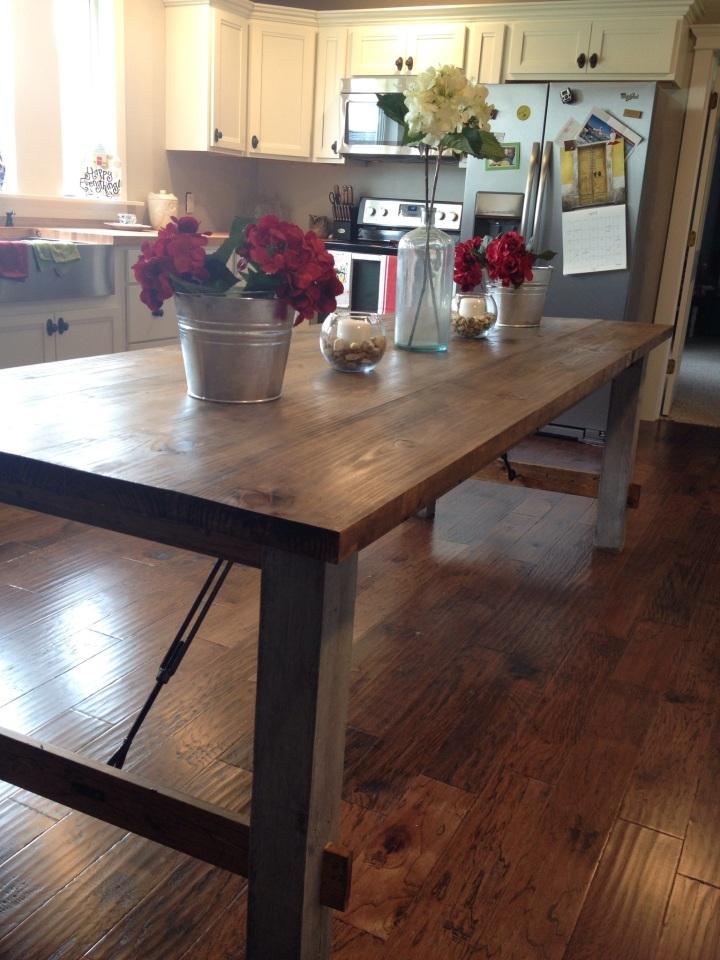 DIY Farmhouse Dining Table for Cheap