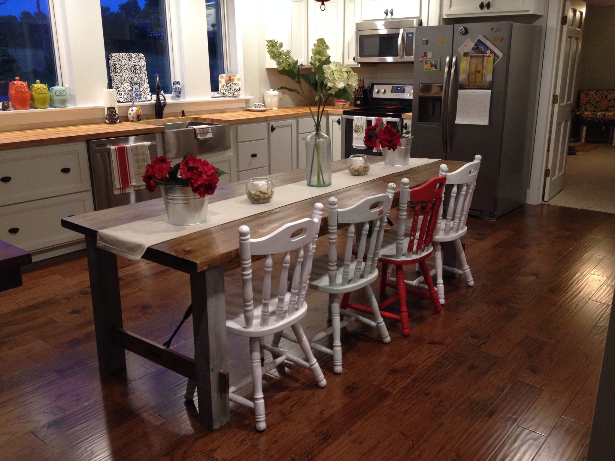 100 farmhouse kitchen table and bench ana white diy farmhou
