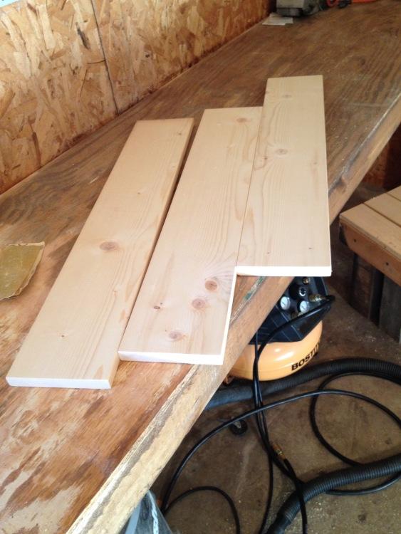 Boards cut for centerpiece box