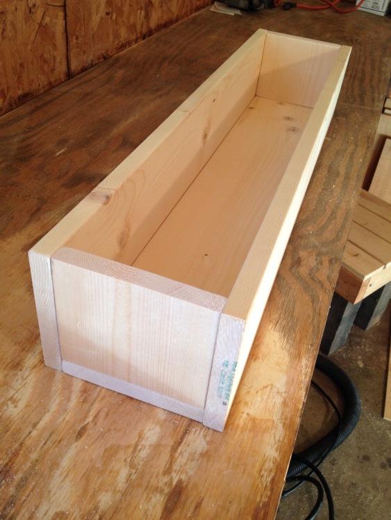 Unfinished wooden centerpiece box