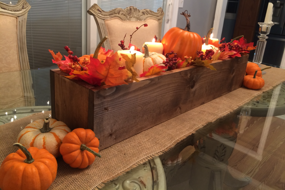 How to make a gorgeous fall centerpiece box in just minutes!